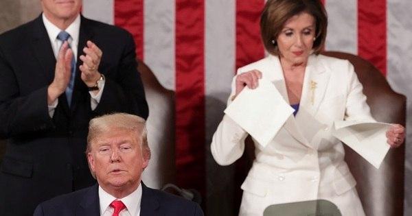 Discurso de Trump ao Congresso é marcado por disputa com Pelosi - Notícias